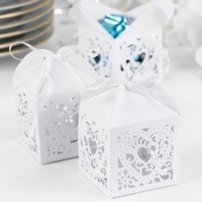 Decorative White Favour Boxes