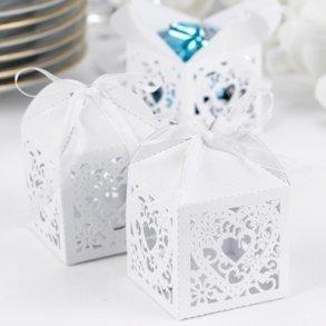 Decorative White Favour Boxes