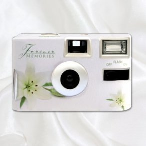 White Lily Disposable Wedding Camera