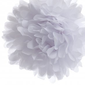 White Mini Tissue Paper Pom Poms - Pack of 8