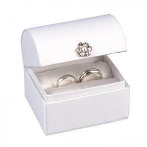 White Satin Alternative Ring Bearer Box