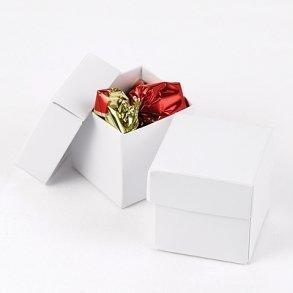 White Shimmer Favour Bomboniere Boxes