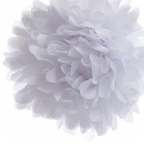 White Tissue Paper Pom Poms