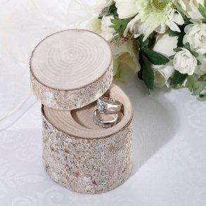 White Washed Pine Wedding Ring Holder Alternative