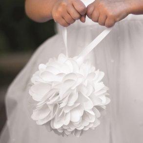 White Wild Flower Kissing Ball