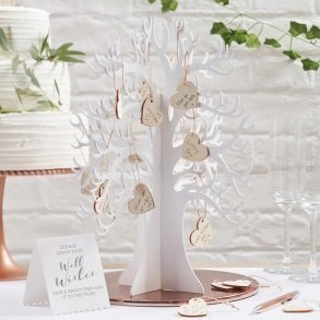 Wooden Wishing Tree Wedding Guest Book Alternative