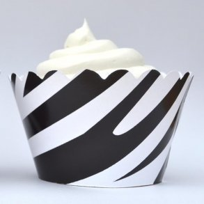 Wild Zebra Print Cupcake Wrappers - Pack of 12