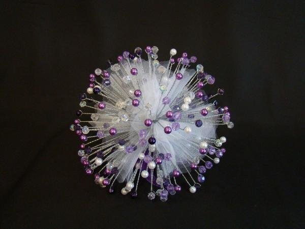 Lilac Swirl Beaded Bouquet