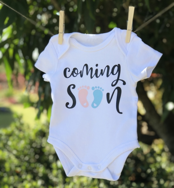 Coming Soon Pink Or Blue Baby Announcement Onesie