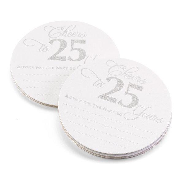 25th Anniversary Glitter Advice Coaster