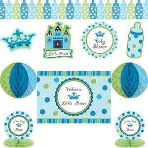 Buy baby gifts baby shower supplies decorations how for Baby boy shower decoration kits