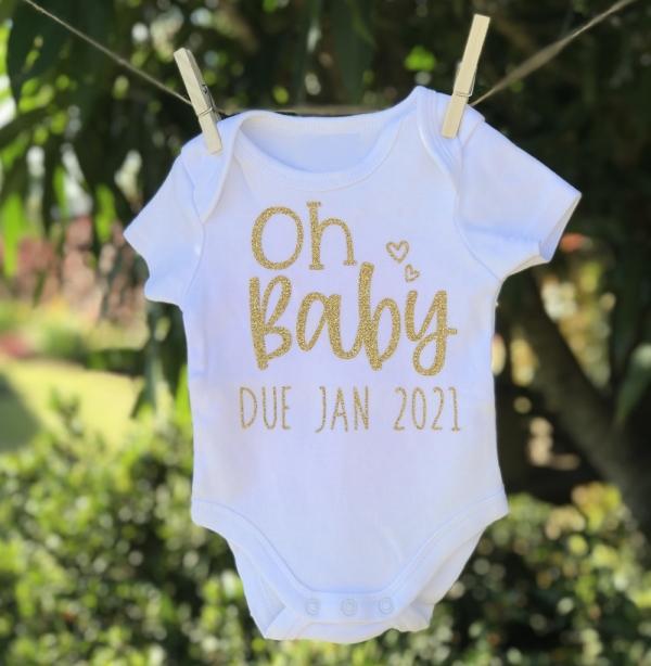Oh Baby Custom Pregnancy Anouncement Onesie