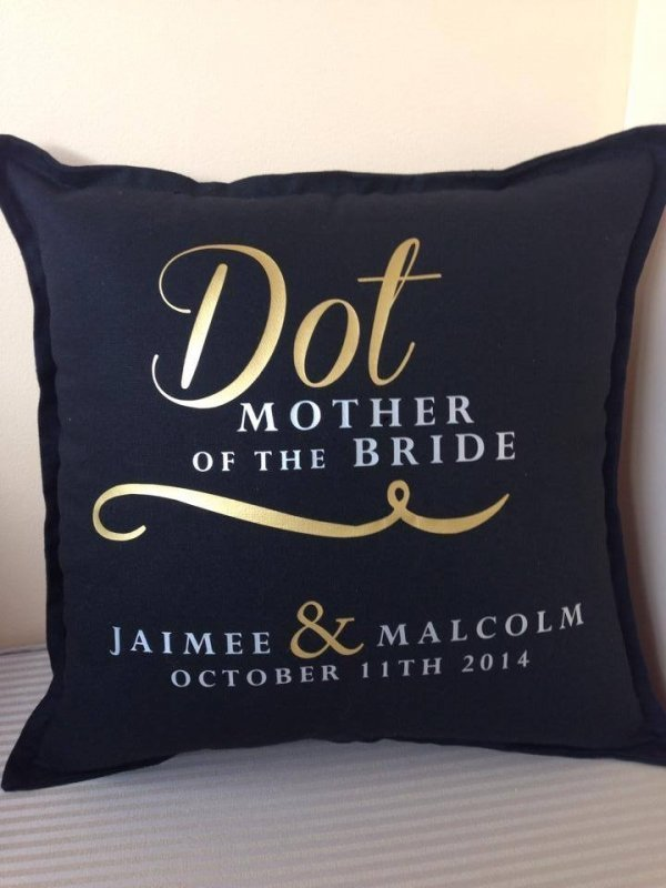 Personalised Bridal Party Cushions - Gift