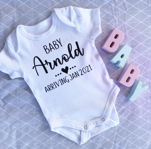 Personalised Baby Pregnancy Announcement Onesie