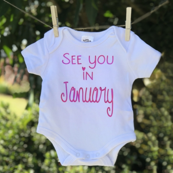 See You In Due Month Baby Announcement Onesie