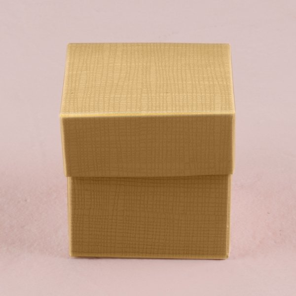 Lustrous Gold Favour Box with Lid
