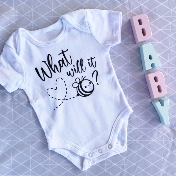 What Will It Bee? Baby Announcement Onesie