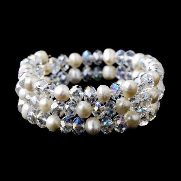 Amethyst Aurora Borealis Crystal Wrap Bracelet