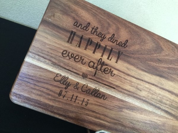 And They Dined Happily Ever After Personalised Chopping Board