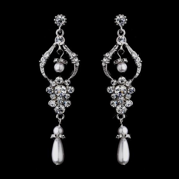 Antique Chandelier Earrings With White Pearls