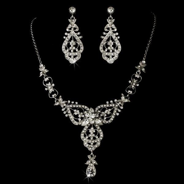 Antique Silver Plated Jewellery Set