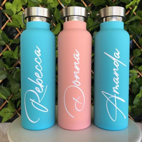 Aqua Blue Personalised Drink Bottles
