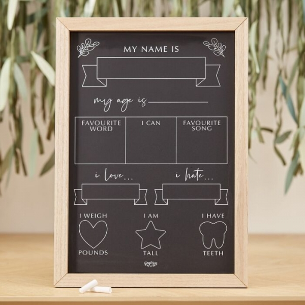 Baby Milestone Chalkboard Sign - Photography Prop