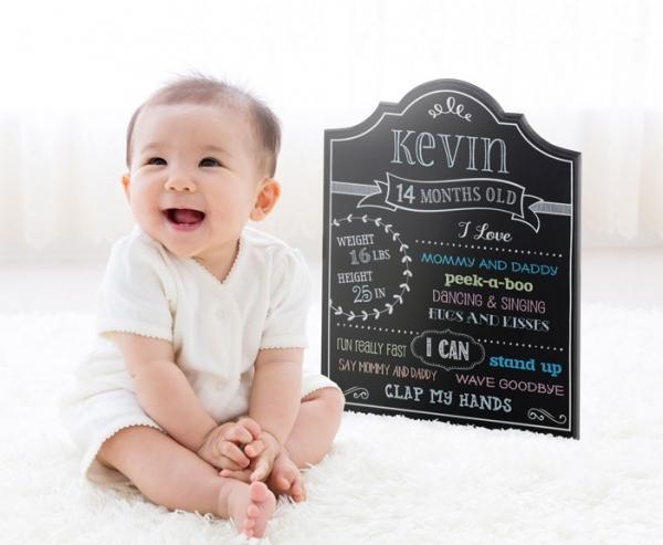 Baby Monthly Milestone Chalkboard Photo Prop