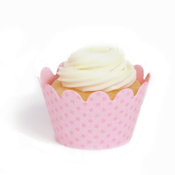 Baby Pink Mini Cupcake Wrappers Pack Of 18