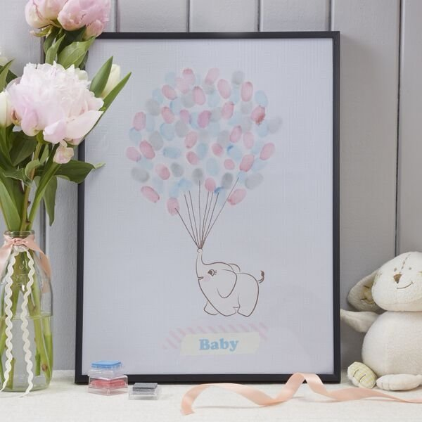 Baby Shower Finger Print Keepsake Guest Book