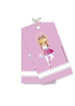 Ballerina Party Gift Tags - Pack of 12