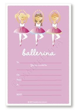 Ballerina Party Invitations - Pack of 12