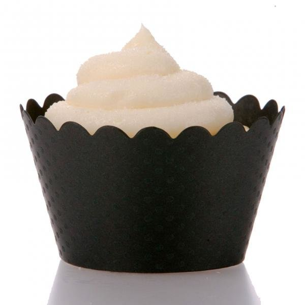 Black Cupcake Wrappers - Pack of 12