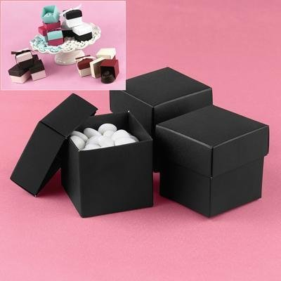 Black Wedding Favour Bomboniere Boxes