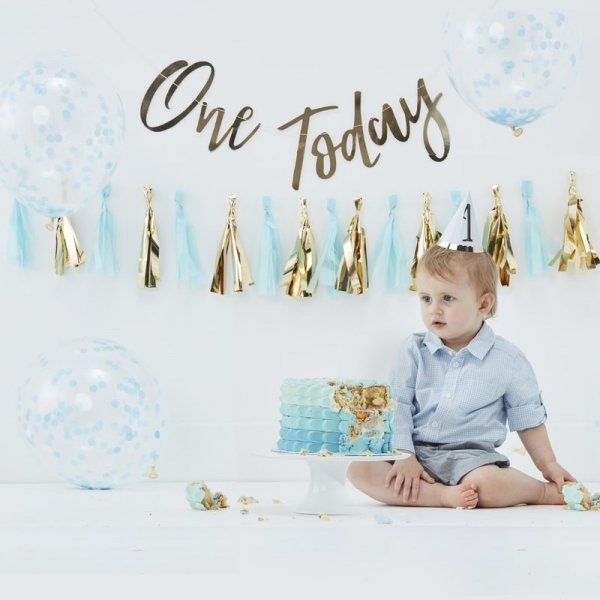 Blue One Today Cake Smash Decorating Kit