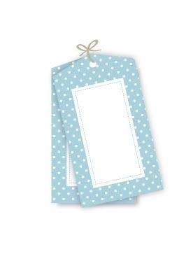 Blue Polkadot Party Gift Tags - Pack of 12
