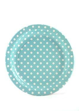 Blue Polkadot Plates - Pack of 12