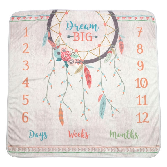 """Boho"" Milestone Baby Photo Blanket"