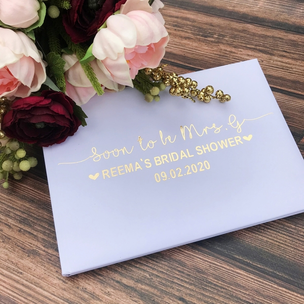 Personalised Bridal Shower Guest Book