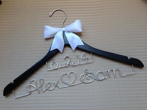 Bridal Couple Coat Hanger With Wedding Date