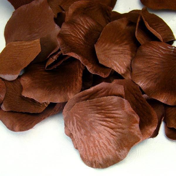 Brown Silk Rose Petals - 100 Petals