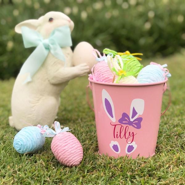 Personalised Easter Bunny Bucket - Boy or Girl