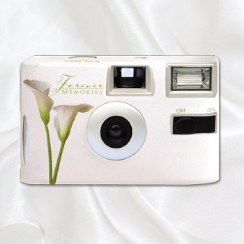 Disposable Camera Wedding Idea: Calla Lily Disposable Wedding Camera
