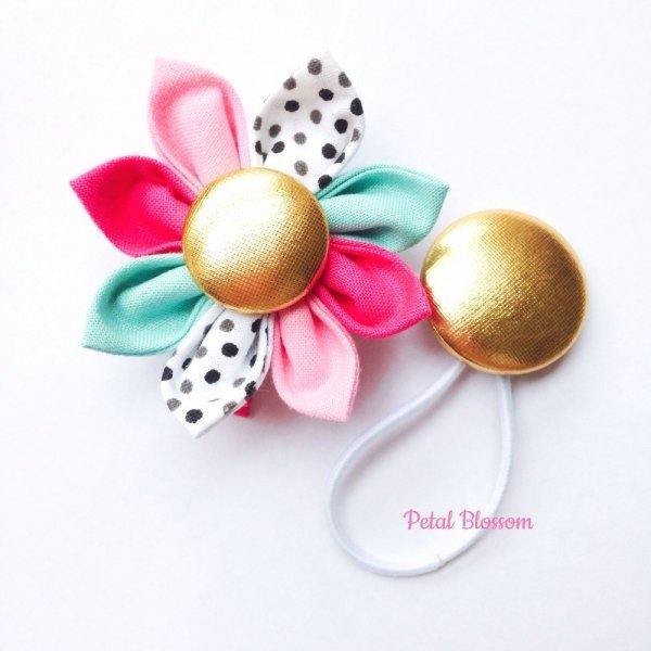 Candy Kiss Girls Hair Clip & Tie Set