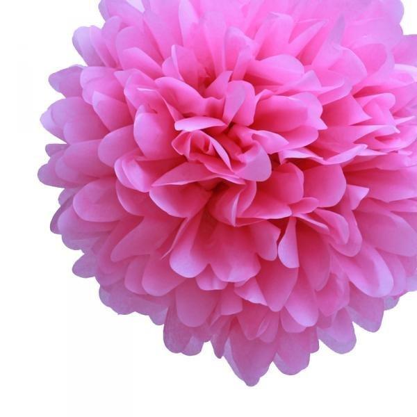 Cherry Blossom Tissue Pom Poms - Pack of 4