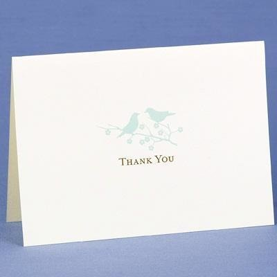 Cream Harmony Thank You Cards - Pack of 50