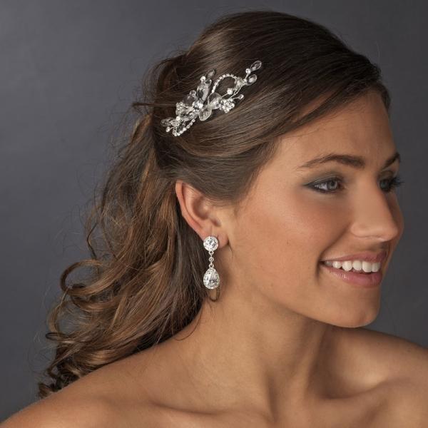 Swarovski Crystal Floral Hair Comb
