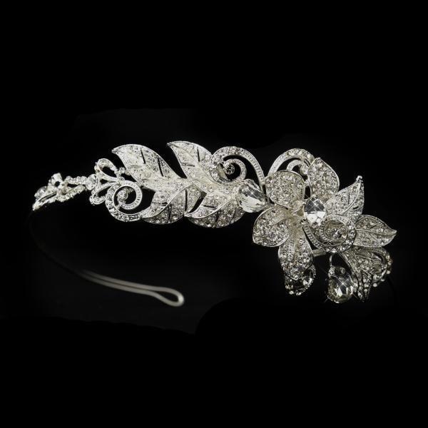 Dazzling Rhinestone Floral Headband