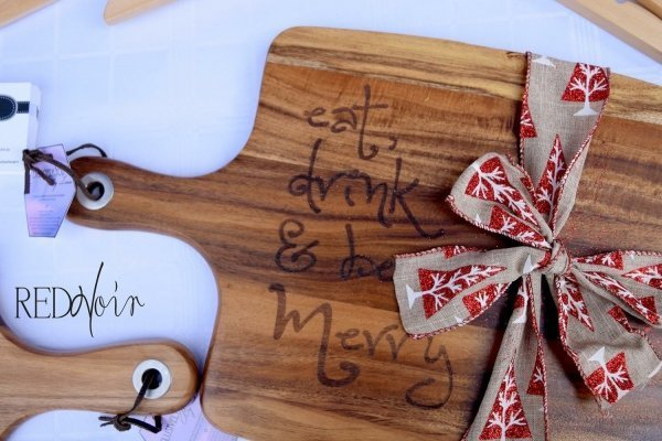 Eat Drink & Be Merry Timber Chopping Board