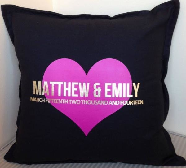Personalised Wedding Couple Cushions